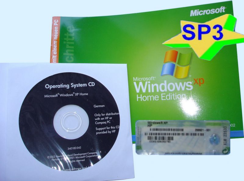 Windows XP Professional SP3 32-Bit ISO with Product
